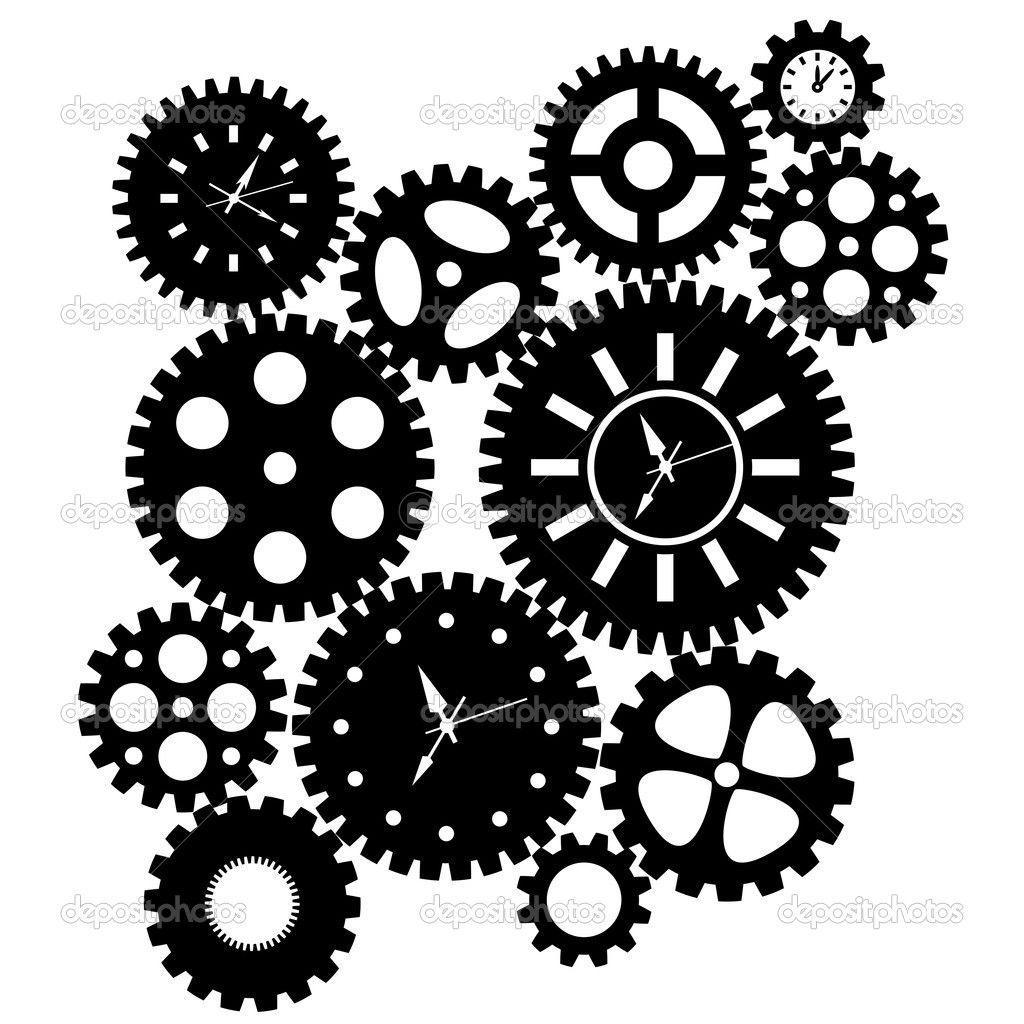 Depositphotos 7691076 Time Clock Gears Clipart Jpg 1 024 1 024 Pixels Engranajes Dibujo Reloj Estilo Steampunk Disenos De Unas