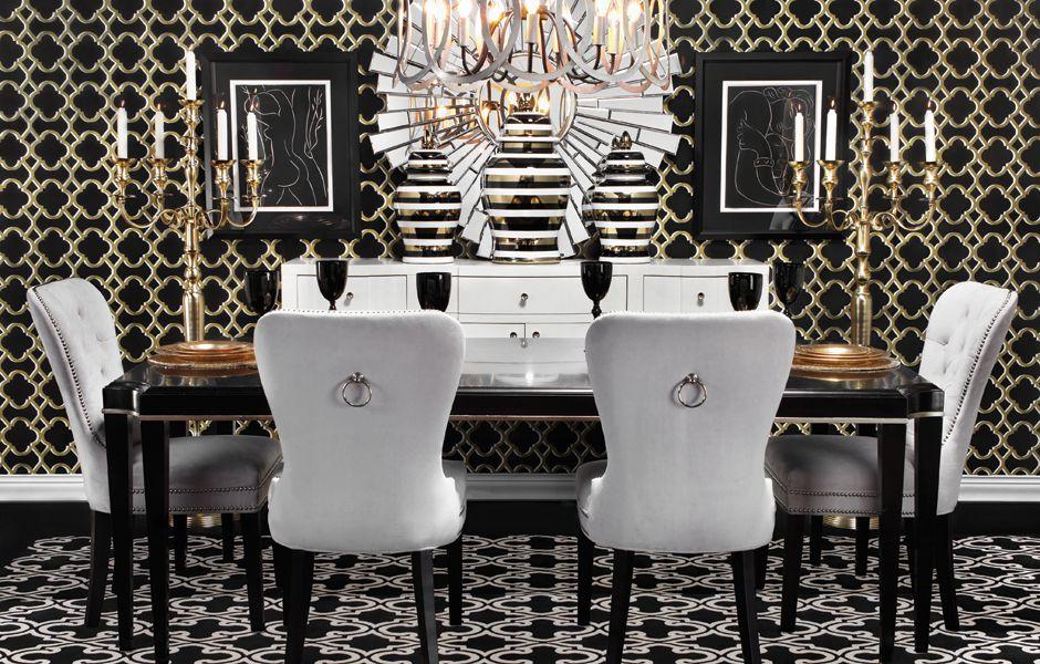 Fw14 Modern Dining Look On Zgallerie Interior Design Dining Dining Room Glam Modern Dining Decor