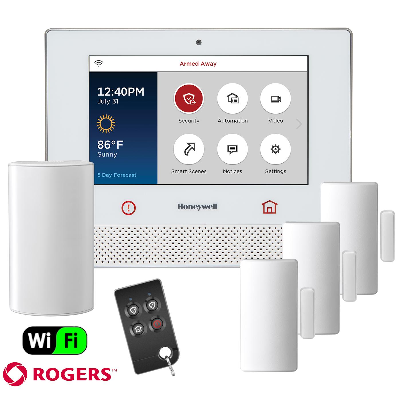 Honeywell Lyric Dual Path Canada Wireless Security System Kit Via Rogers Ne Wireless Home Security Systems Wireless Security System Home Security Alarm System