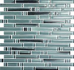 Glass Tile Strips Mixed Size Strips Bellavita Bamboo Glass Tile
