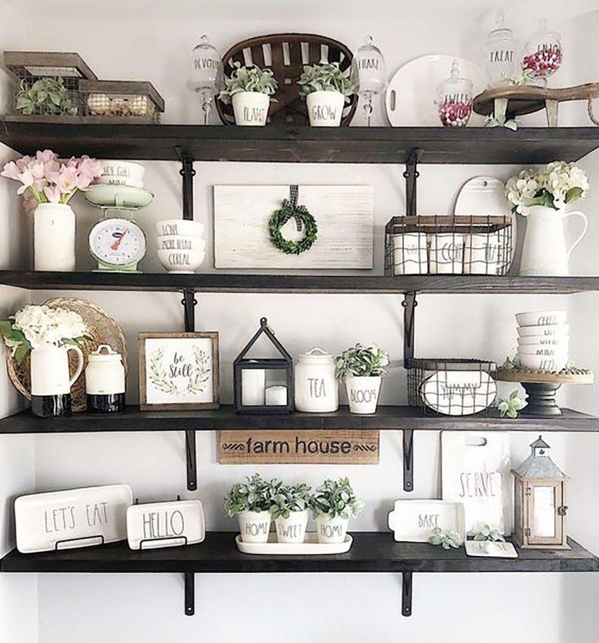 rae dunn displays kitchen decor floating shelves on floating shelves kitchen id=11871