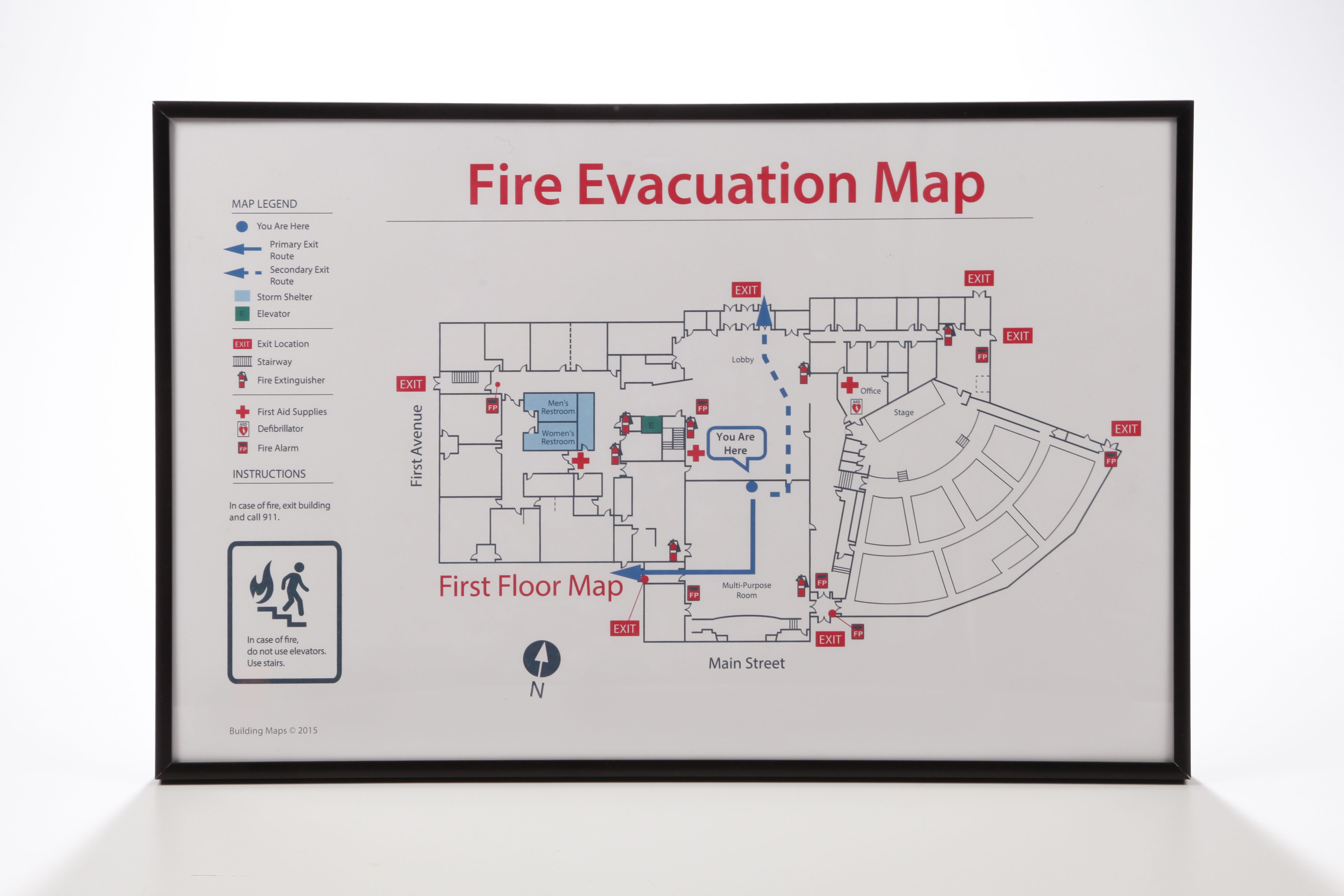 example of fire exit diagram labeled spinal column pin by yubo on evacuation map pinterest sign system