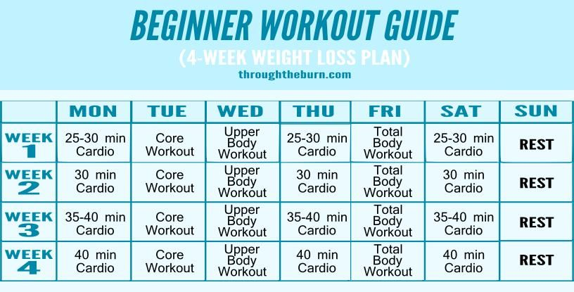 Weekly Workout Plan For Men Beginners And Women Workout Plan For