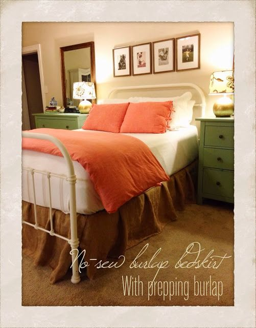 Goodness The Metal Bed Frame Burlap Bed Skirt Ivory Bedding