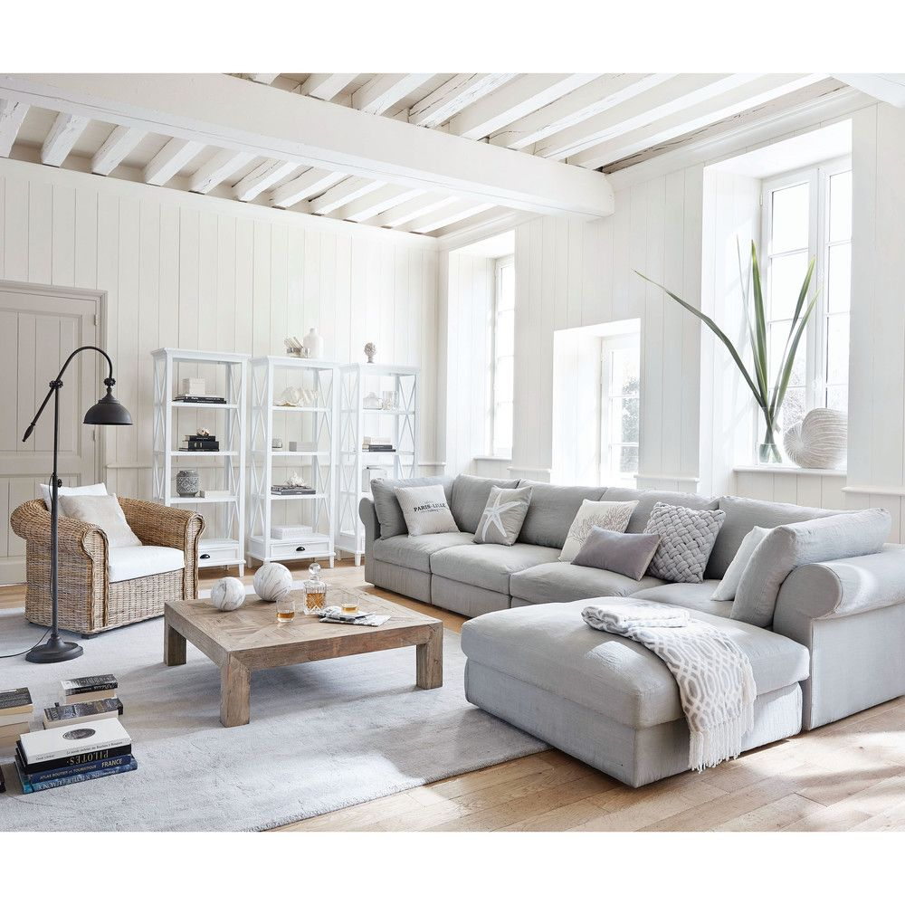 graues geflochtenes kissen 45x45 ideas for the house grey sofa decor linen corner sofa y
