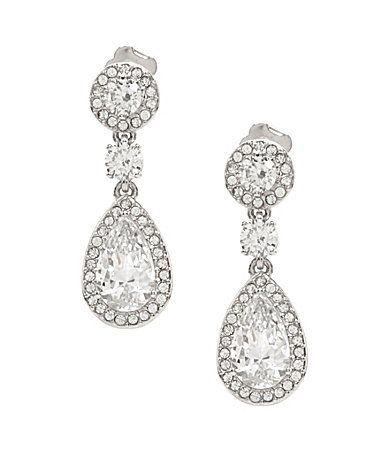 Nadri Multi Cubic Zirconia Drop Statement Earrings Wedding jewelry