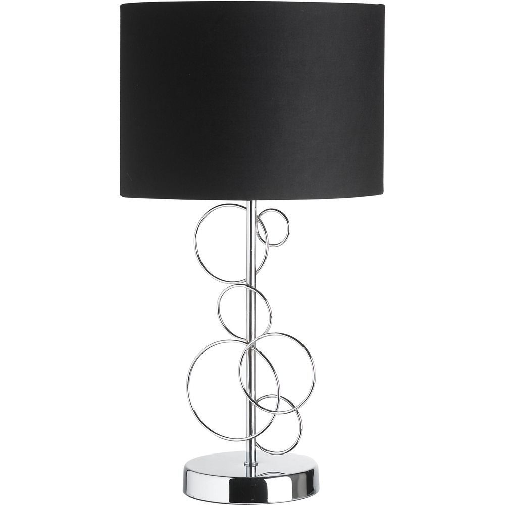 Modern black and silver ceramic pebbles table lamp haysoms - Chrome Table Lamps Available Now Up To Off Buy Online From
