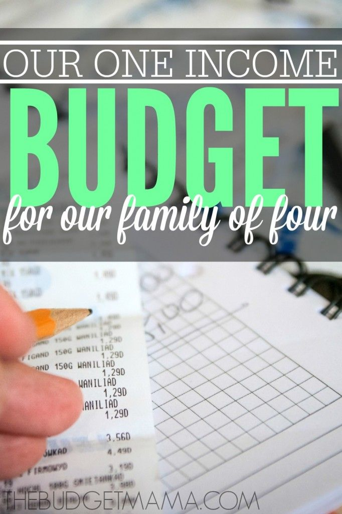 Our 2015 One Income Family Budget Money Budgeting Pinterest