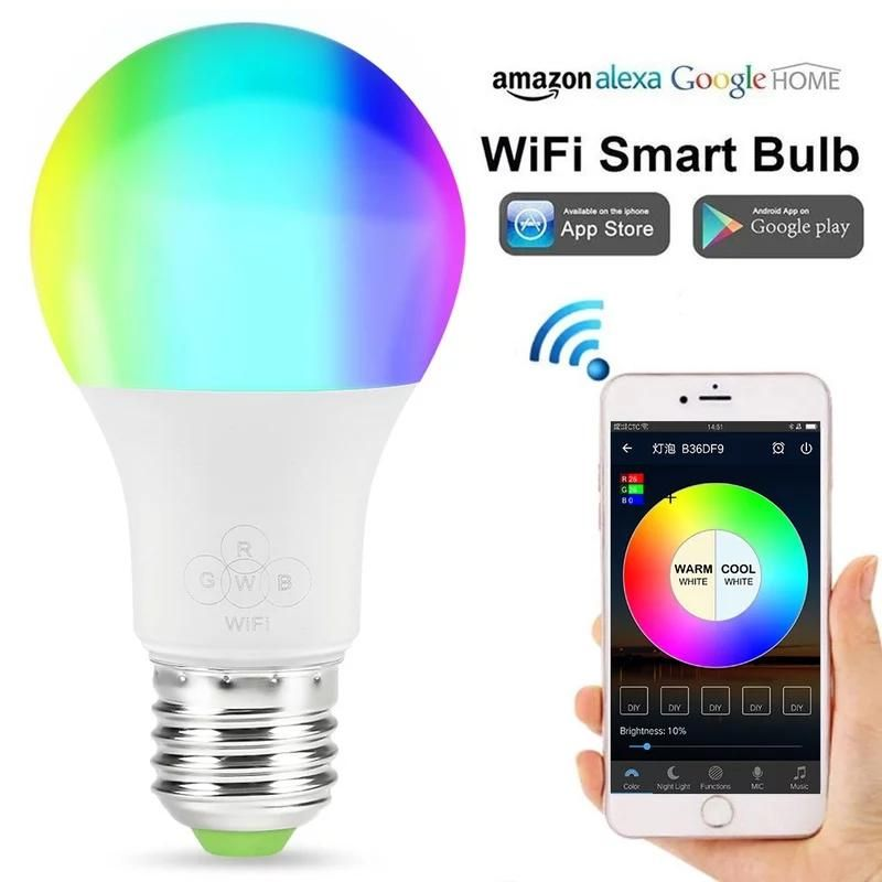 Wifi Bombilla Led Magia Casa Inteligente Bombilla Rgbw 4 5 W 6 5 W 11 W Rgbw E27 Regulable Grupo De Luz Led Compatible Con Alexa Go Bombillas Led Bombillas Led