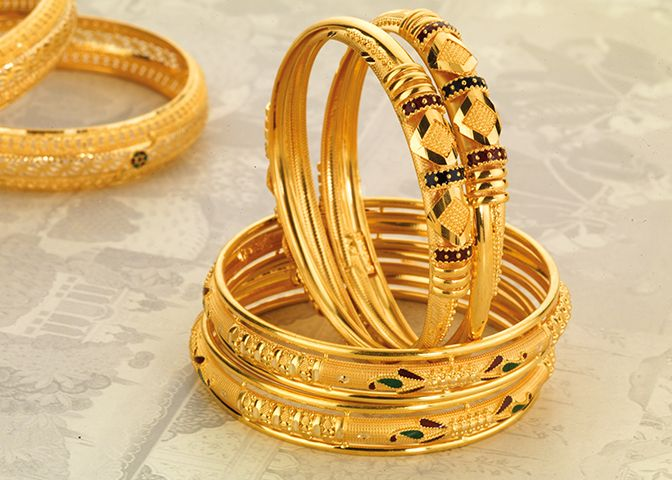 Exclusive Jewellery Gold Bangle Designs gold bangles Pinterest