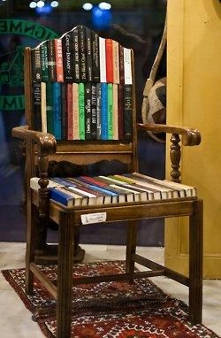 Another Funky Book Chair Nookstr Pinterest Books - Bookchair combined with bookshelf