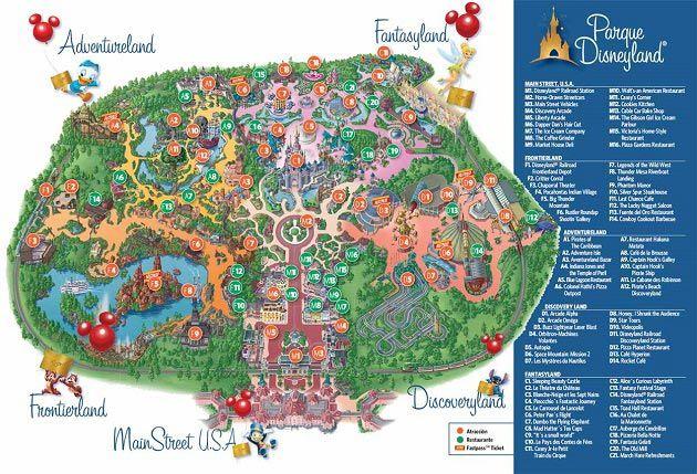 Disneyland Park Kort Paris Disneyland Disneyland Paris Og Paris