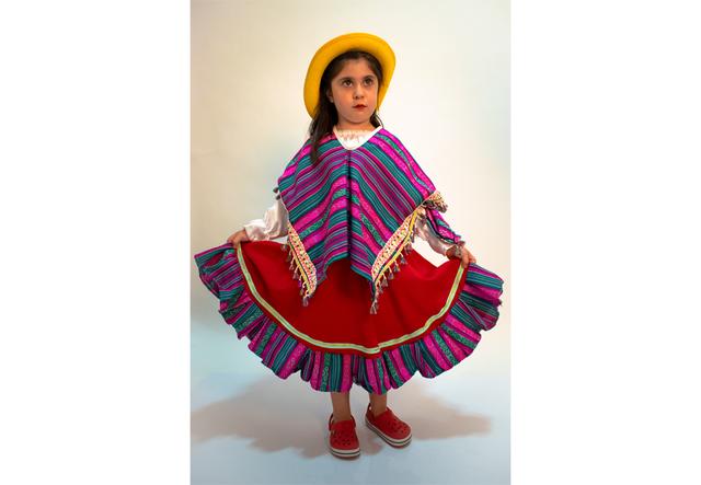 69726e3c6 Disfraz de Coya. Se compone de poncho, pollera y sombrero ...