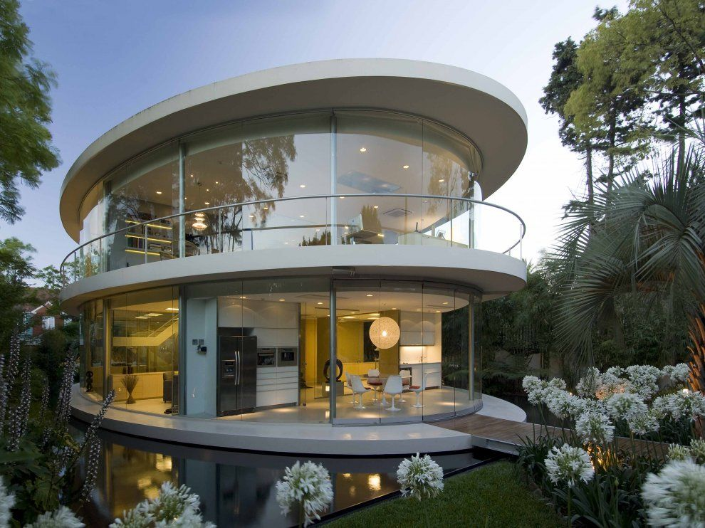 22 fachadas de casas circulares arquitectura pinterest for Casas modernas redondas