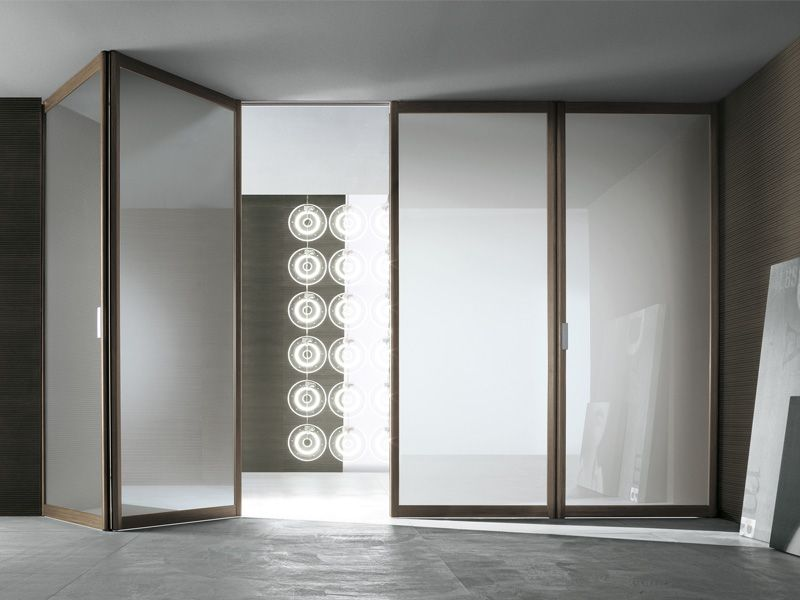Folding opaque doors might be the right thing for our extra large siparium folding door by rimadesio brown aluminium frame and reflecting etched light coloured glass planetlyrics Images