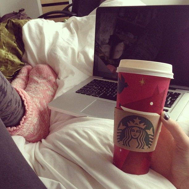 Part of my Fall= cold weather, big socks, pumpkin spice latte, and a warm bed.....WHILE you are on Pinterest :)