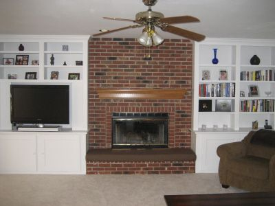 Seat cushions and Paint fireplace
