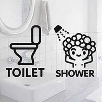 Cute Baby Toilet Sign Beautiful Design And Bathroom Decal