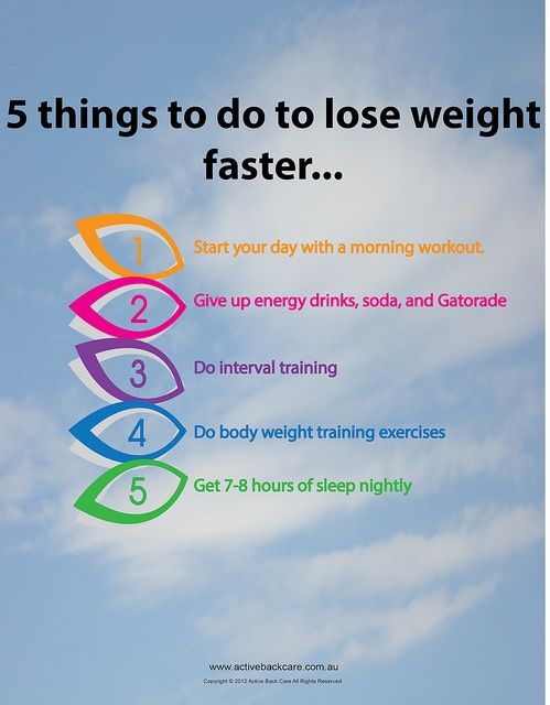 how to lose a weight faster