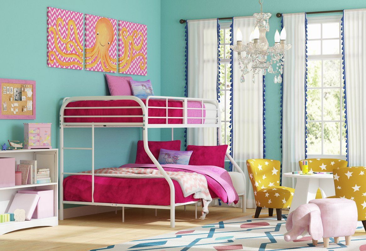 Kids Horizontal Bookcase The Look Eclectic Bedroom Design Photo By Wayfair