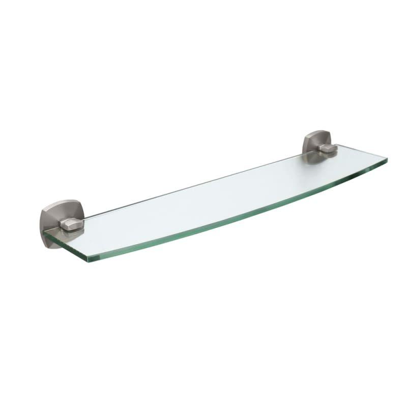 Gatco GC4156 Glass Shelf from the Jewel Series Satin Nickel Bathroom