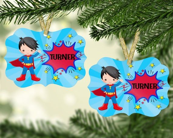 Superhero  Ornament/Christmas ornament/Personalized Ornament/Superhero birthday/Superhero gift/Chris #superherogifts