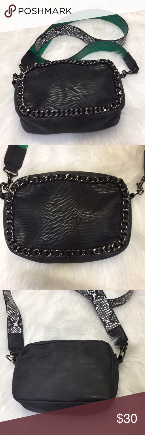 ES2242A Quilted Turn-Lock Chain Cross Body Shoulder Bag Green