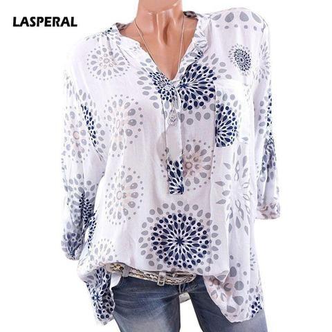 036706f4 LASPERAL Elegant Dot Print Flare Sleeve Women Blusa O-neck Long Sleeve  Chiffon Shirts Ladies Tops Korean White Black Blouse Tee