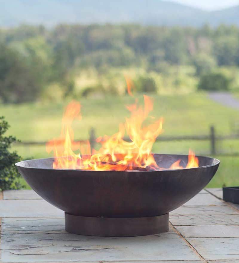 Handmade Recycled Metal Fire Pit Bowl Fire Pits Fire Pit Bowl Fire Pit Essentials Fire Pit