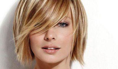 cabelos com mechas ou luzes curtos ou lisos