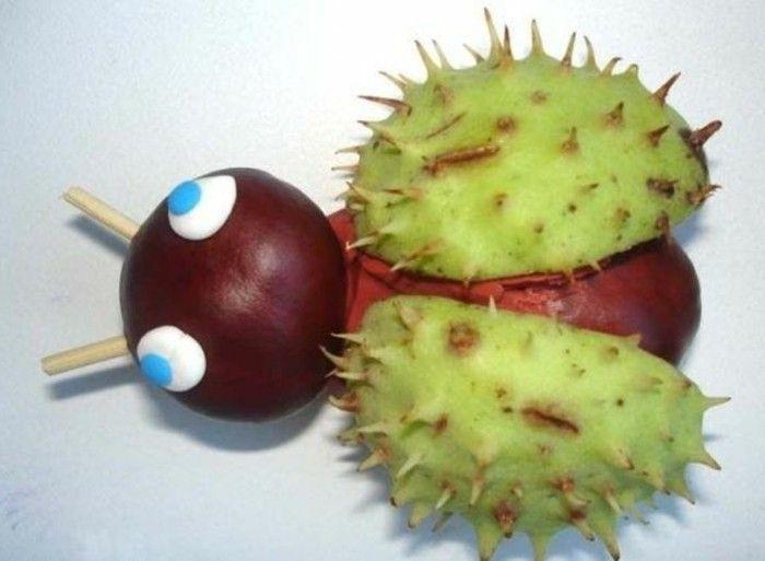 Basteln mit Kastanien - etwas Lustiges im Herbst unternehmen - Archzine.net #kastanienbastelnkinder