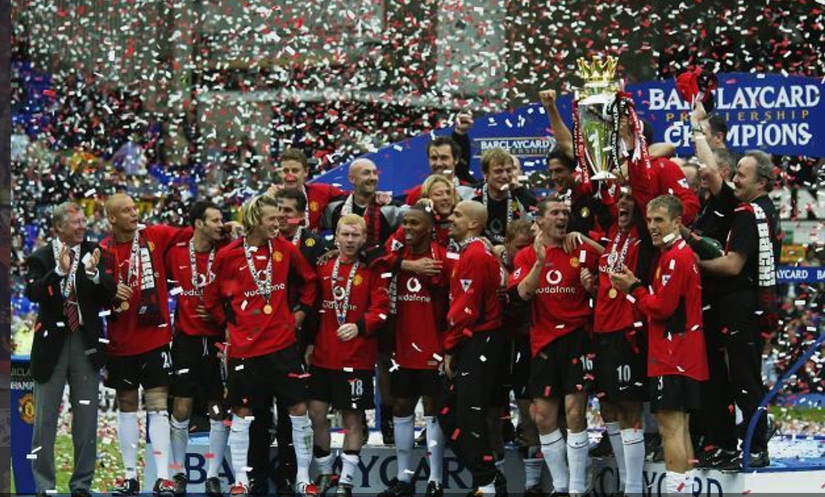 Manchester United Champions 2002 03 Manchester United Manchester United Champions Manchester United Premier League