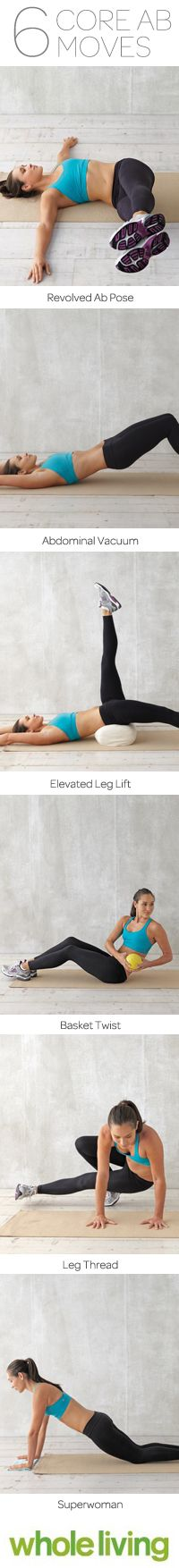 Six Core Abdominal Moves by wholeliving  #Core
