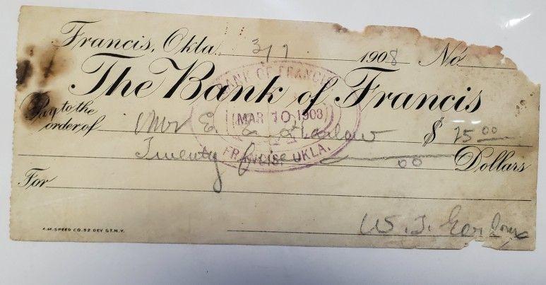 Bank of francis oklahoma oklahoma calligraphy