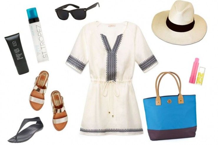 travel outfit and beach tips