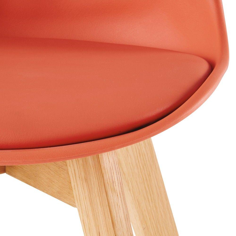 Chaise style scandinave vert d'eau et chêne massif | Chene