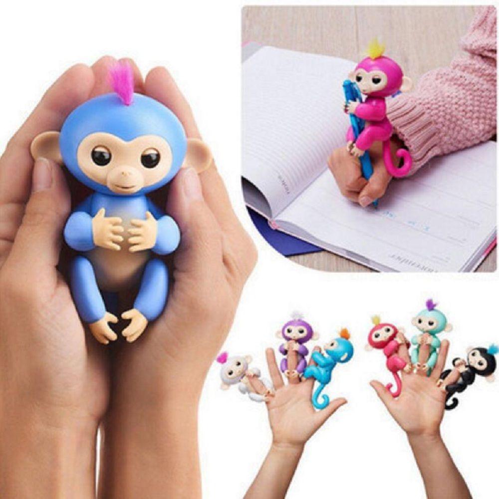 6 couleur alevins jouets interactifs singe intelligent color fingersllings induction cadeau de nol enfants animaux jouets pour enfants