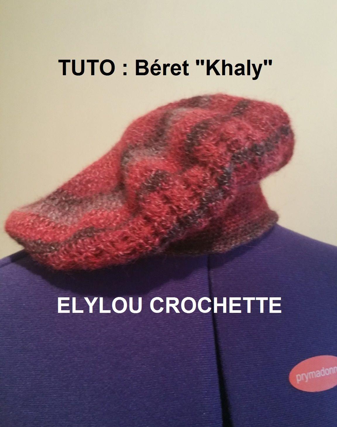 Béret « Khaly » et la technique pour faire un béret   Béret, Patrons de chapeau, Tricot et crochet