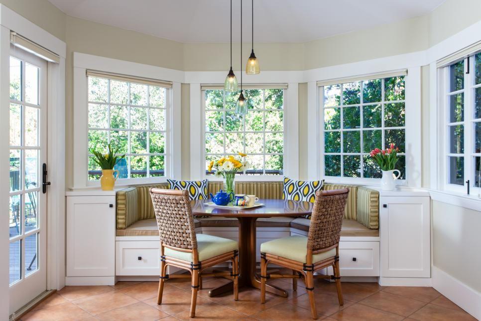 Light Filled Breakfast Nook Features Banquette Seating Kitchen Nook Breakfast Nook Home