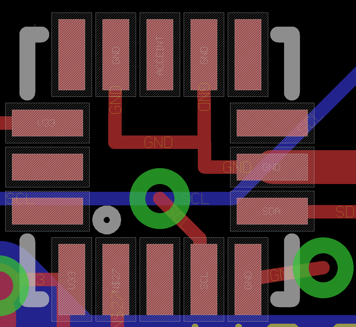 Example Eagle PCB QFN Footprint | Electronics | Pinterest