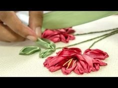 Ribbon Flowers Embroidery Ideas: Learn Stitching for Beginners #ribbonflower