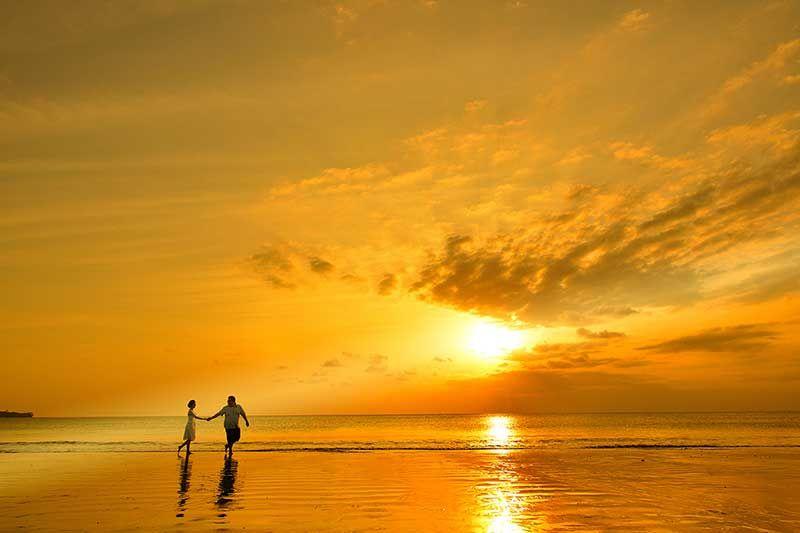 サンセット(夕日)ビーチフォト|バリ島 BLESS(ブレス)