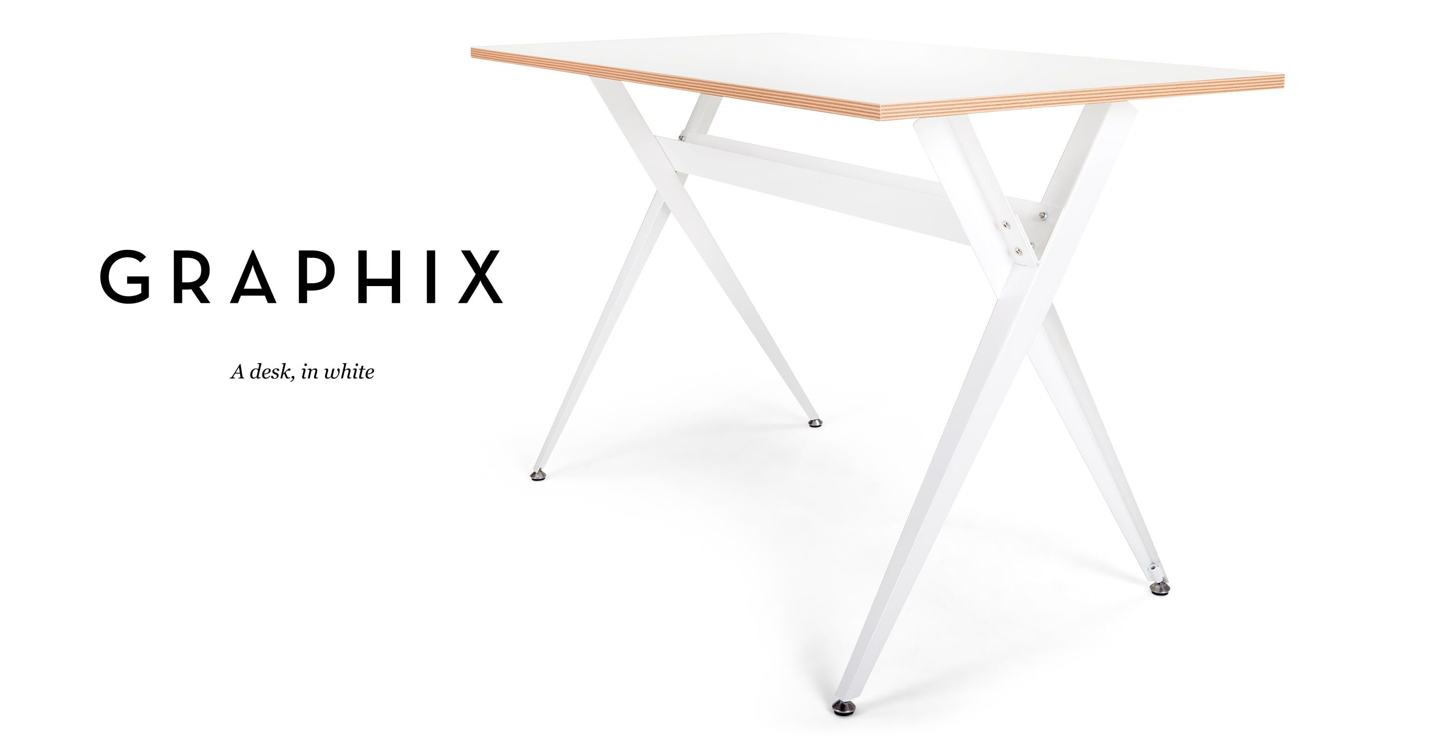 The Graphix Desk In White Is A Beautifully Sleek Example Of Modern  Furniture. Crisp Lines And A Minimalist Use Of Materials Keep The Look  Super Clean.