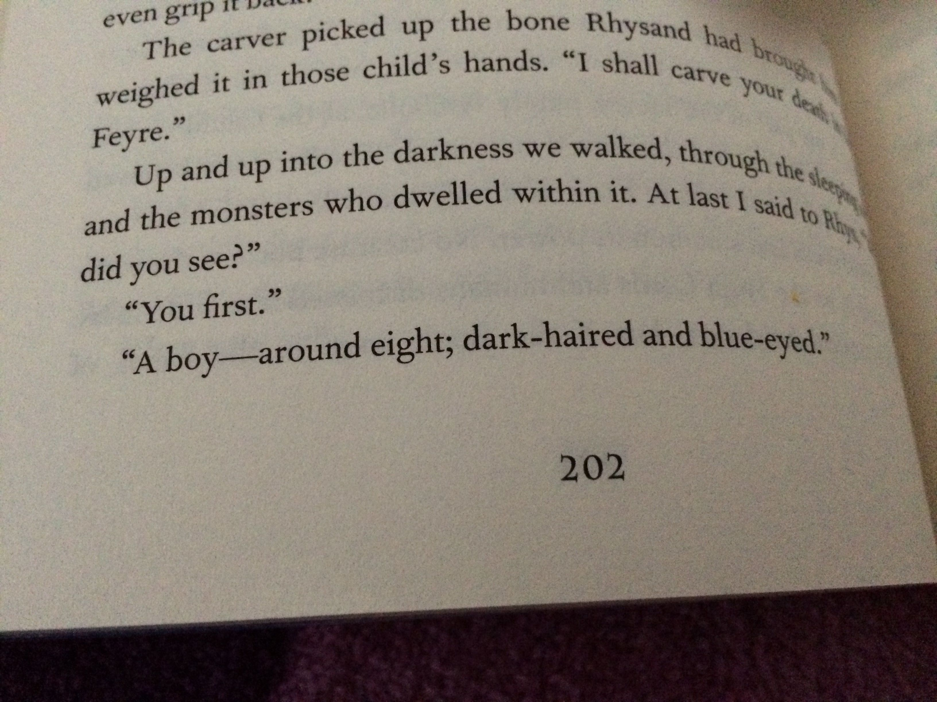 Does Anyone Else Think That The Eight Year Old Boy Feyre Saw As