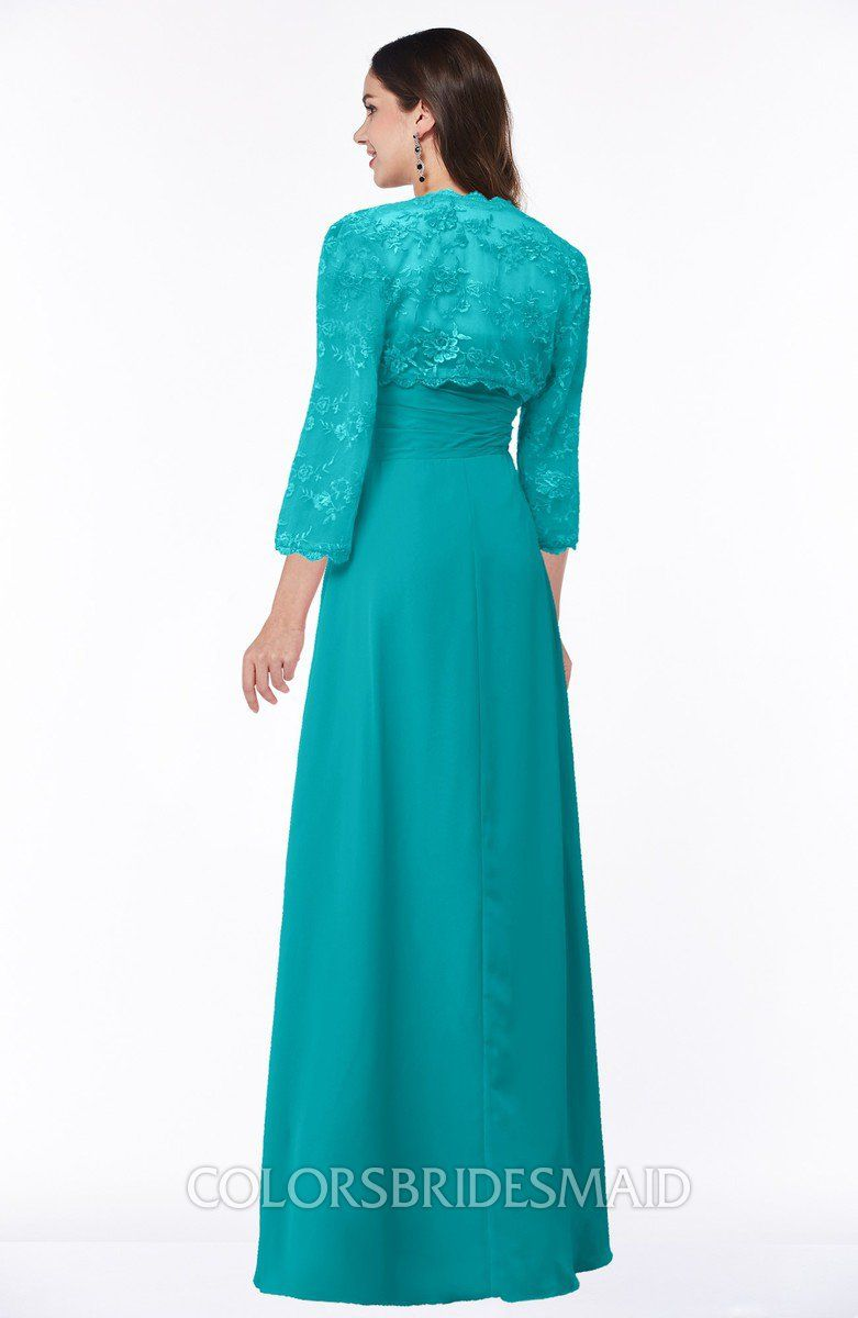 814aa7fdce1b1 ColsBM Camila Teal Modest Strapless Zip up Floor Length Lace Mother of the  Bride Dresses