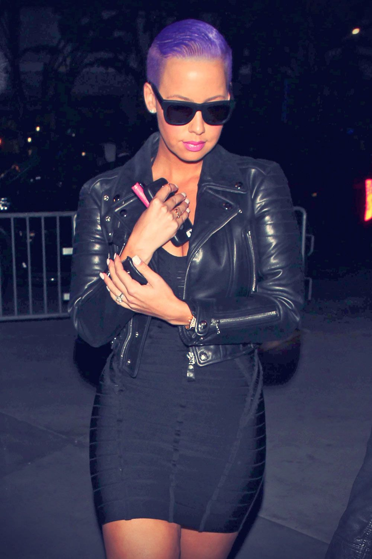Amber Rose Arrive At Beyoncs Concert In La Celebs In Leather