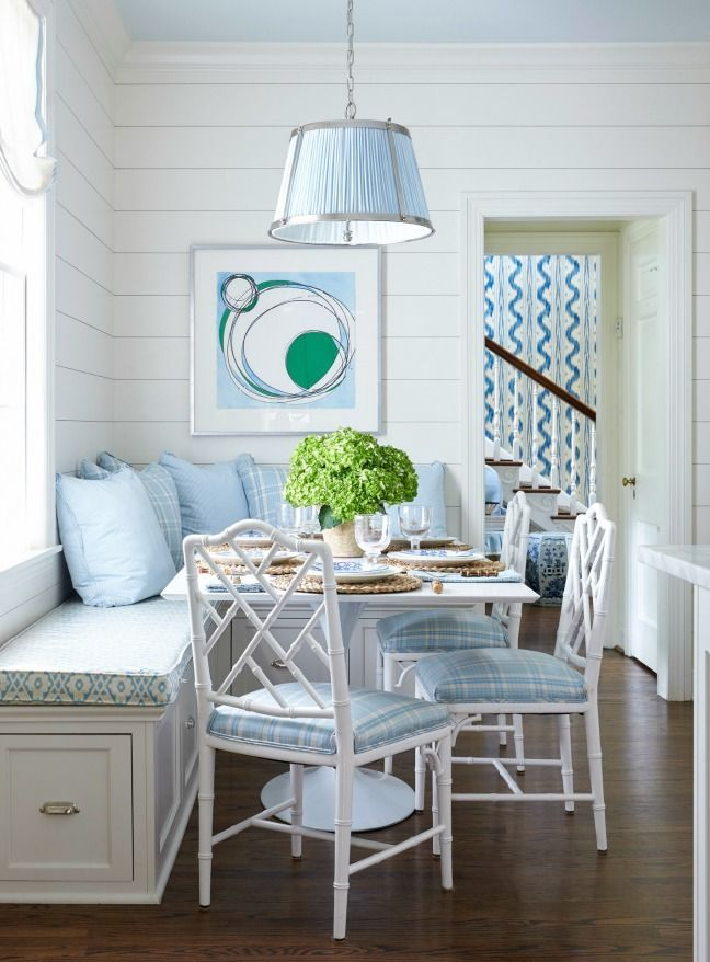 Breakfast Nook - Blue  White  Dining  Pinterest  Breakfast