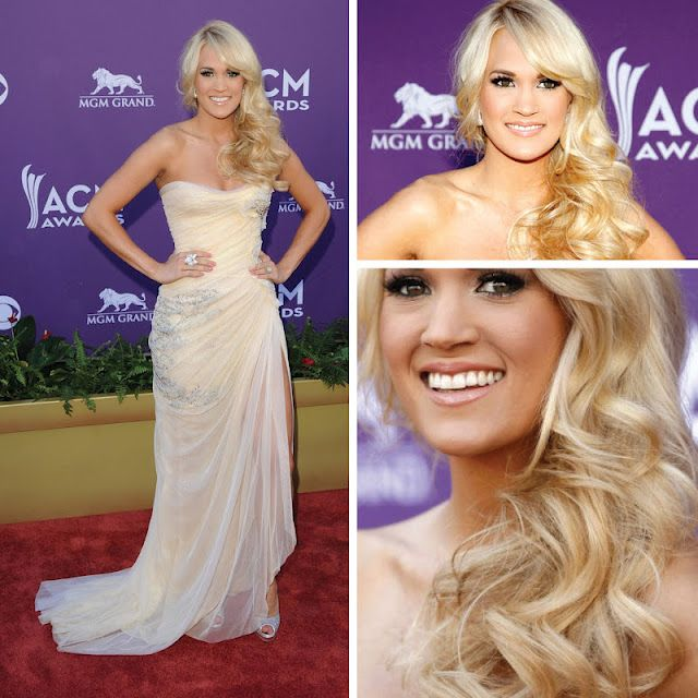 Carrie Underwood's hair and makeup. Flawless.