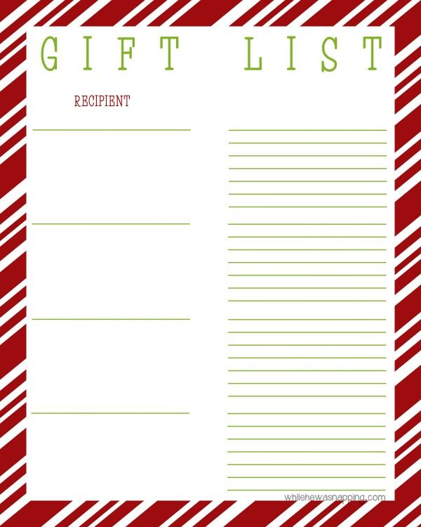 Christmas List Organizer.Gift List Organizer Free Printable Top Organizing