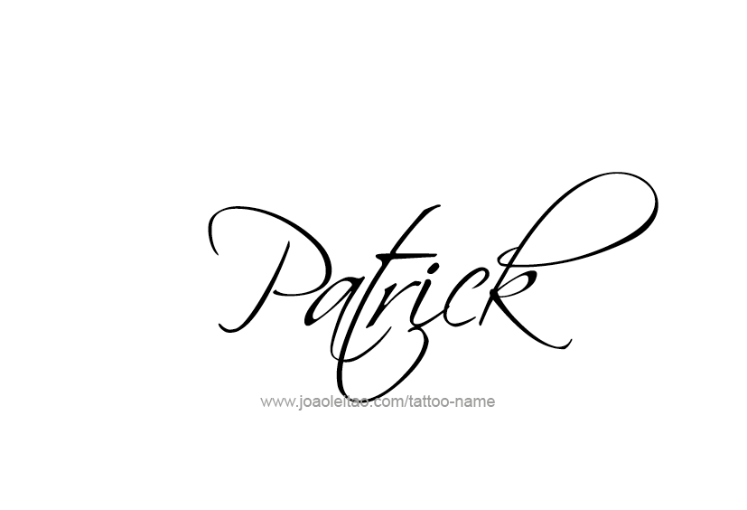 Patrick Name Tattoo Designs